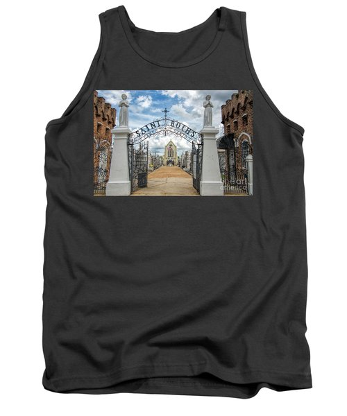 Tank Top featuring the photograph St. Roch's Cemetery In New Orleans, Louisiana by Bonnie Barry