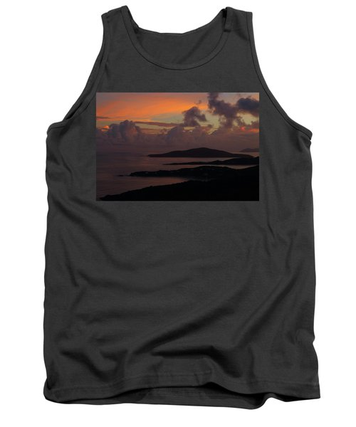 Tank Top featuring the photograph St Thomas Sunset At The U.s. Virgin Islands by Jetson Nguyen