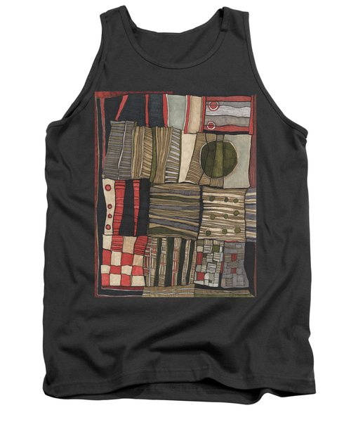 Stacked Shapes Tank Top by Sandra Church