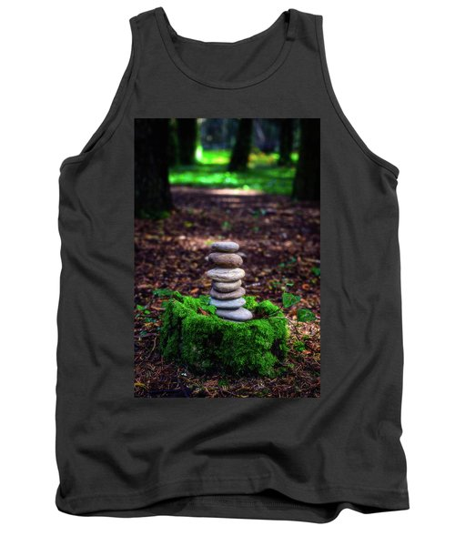 Tank Top featuring the photograph Stacked Stones And Fairy Tales Iv by Marco Oliveira