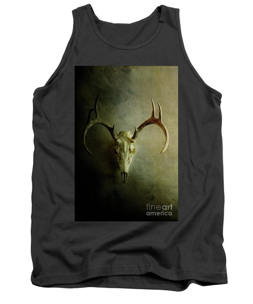 Tank Top featuring the photograph Stag Skull by Stephanie Frey