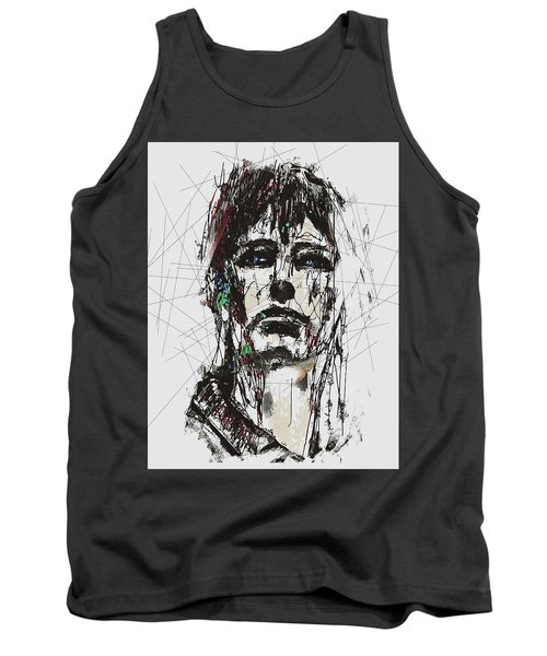 Staggered Abstract Portrait Tank Top