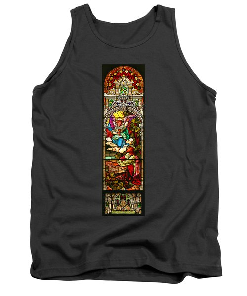 Tank Top featuring the photograph Stained Glas Scene 7 by Adam Jewell