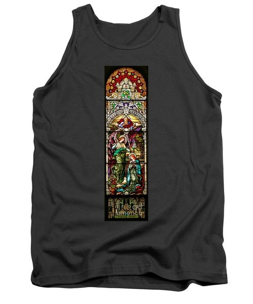 Tank Top featuring the photograph Stained Glass Scene 5 Crop by Adam Jewell