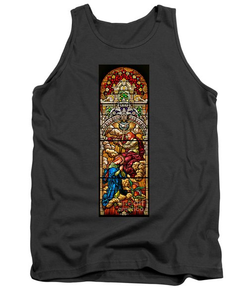 Tank Top featuring the photograph Stained Glass Scene 7 Crops by Adam Jewell