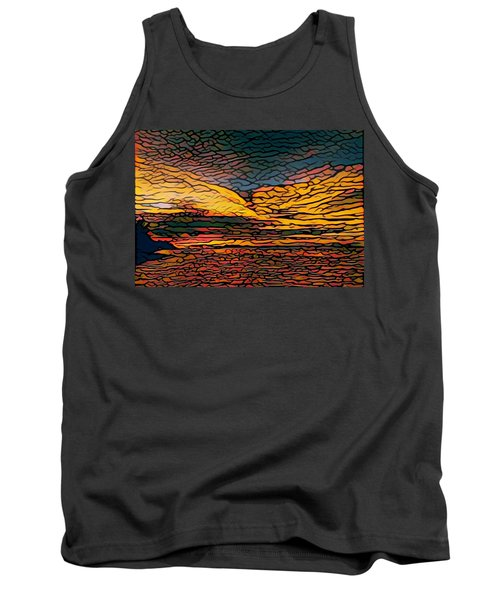 Stained Glass Sunset Tank Top