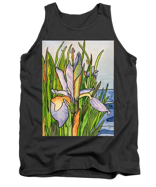 Stained Iris Tank Top