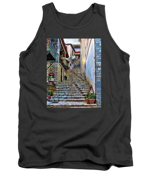 Stairs On Greek Island Tank Top
