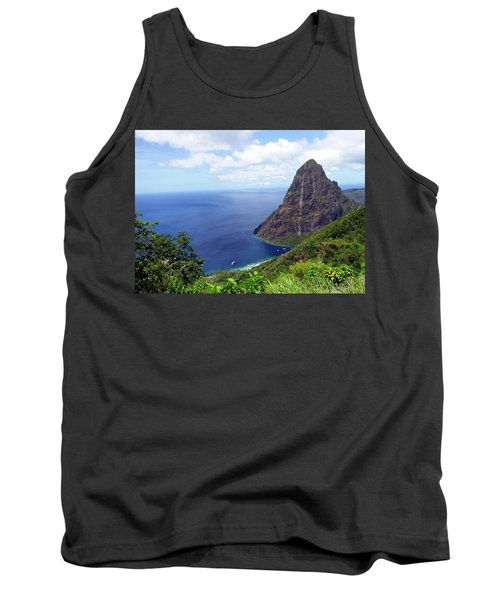 Tank Top featuring the photograph Stairway To Heaven View, Pitons, St. Lucia by Kurt Van Wagner