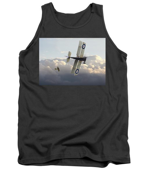 Tank Top featuring the digital art Stalked - Se5 And Albatros Dlll by Pat Speirs