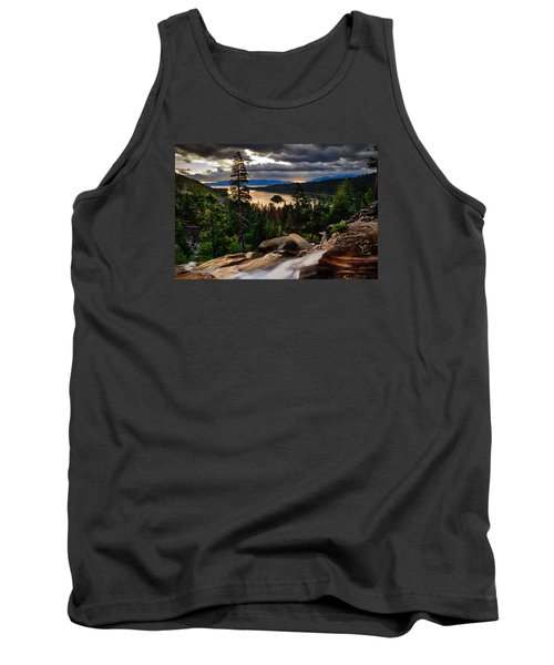Standing At Eagle Falls Tank Top by Renee Sullivan