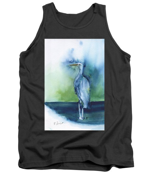 Standing Crane Tank Top by Frank Bright