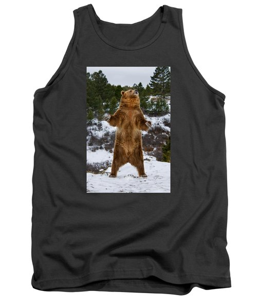 Standing Grizzly Bear Tank Top