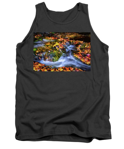 Standing In Motion - Leaves On A Rock 007 Tank Top