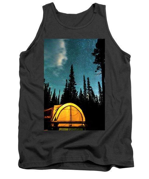 Tank Top featuring the photograph Star Camping by James BO Insogna