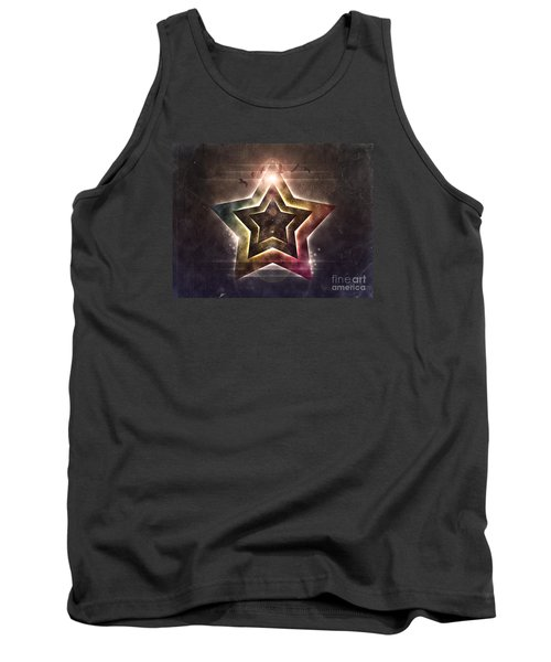 Tank Top featuring the digital art Star Lights by Phil Perkins
