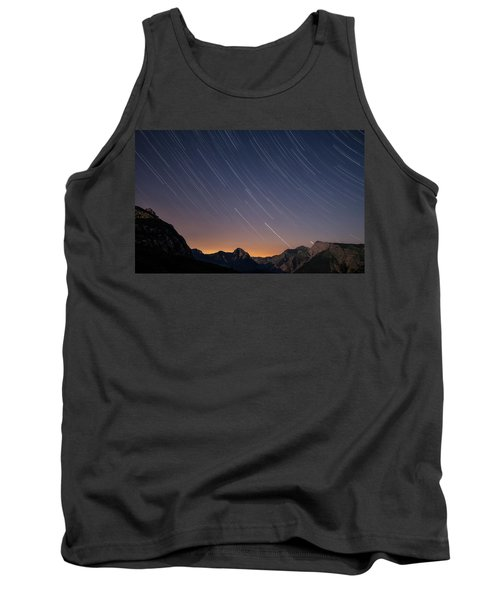 Star Trails Over The Apuan Alps Tank Top