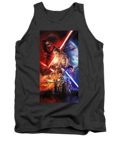 Tank Top featuring the painting Star Wars The Force Awakens Artwork by Sheraz A