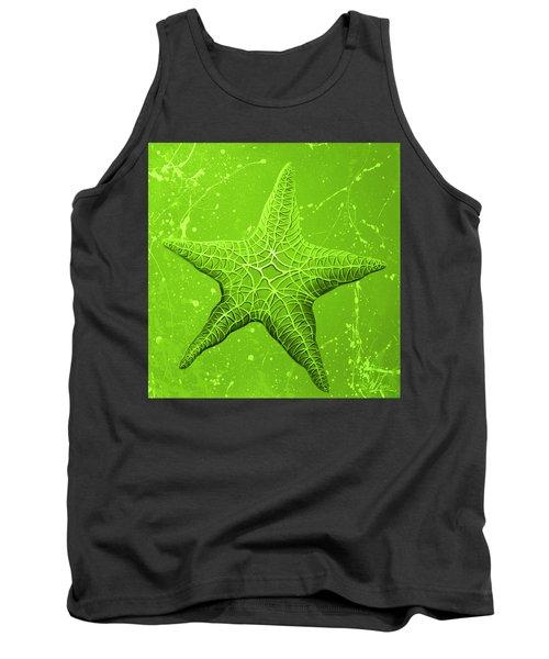 Starfish In Green Tank Top