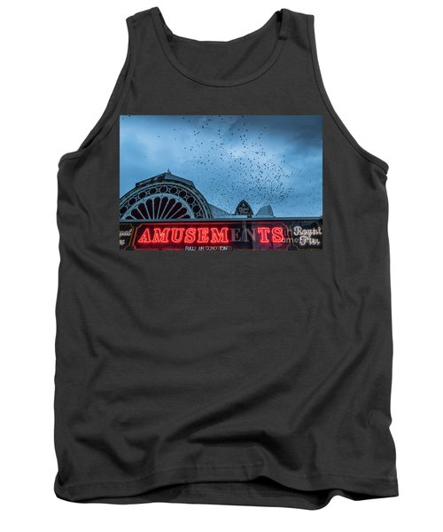 Starlings Over Aberystwyth Royal Pier Tank Top