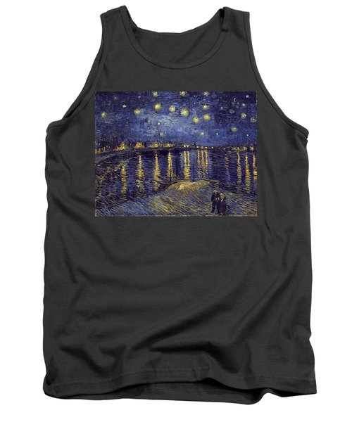 Tank Top featuring the painting Starry Night Over The Rhone by Van Gogh
