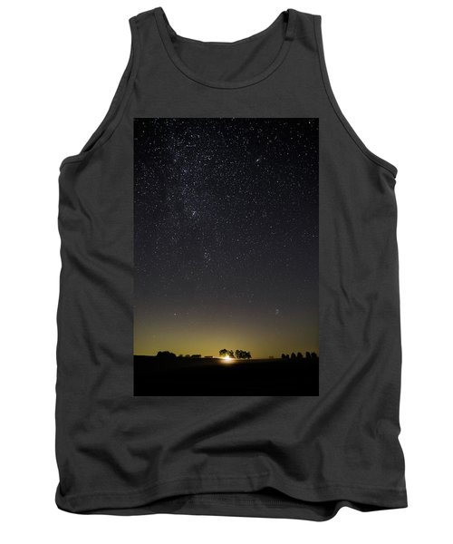Starry Sky Over Virginia Farm Tank Top