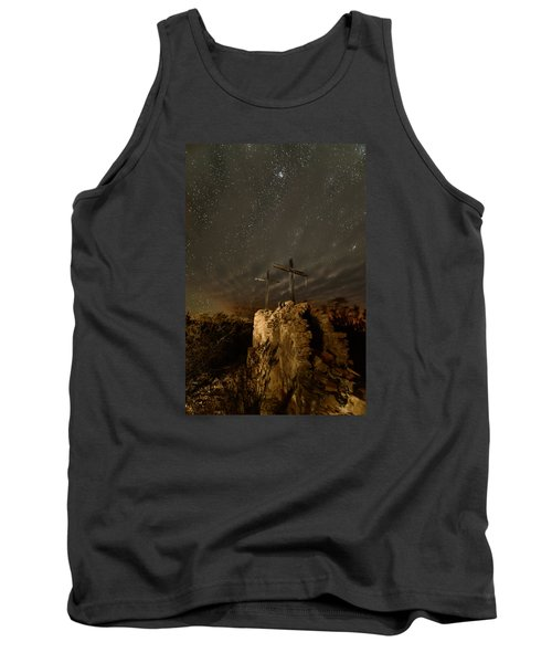 Tank Top featuring the photograph Stars And Crosses by Allen Biedrzycki