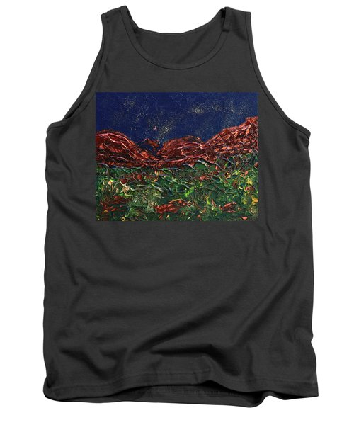 Stars Falling On Copper Moon Tank Top by Donna Blackhall