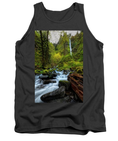 Tank Top featuring the photograph Starvation Creek And Falls by Ryan Manuel
