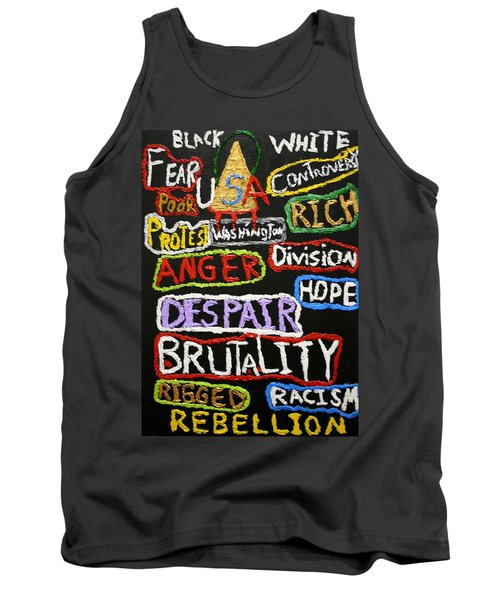 State Of America Tank Top by Darrell Black