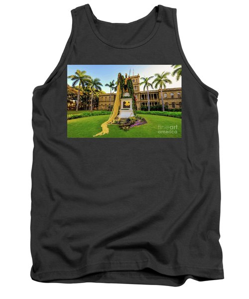 Statue Of, King Kamehameha The Great Tank Top
