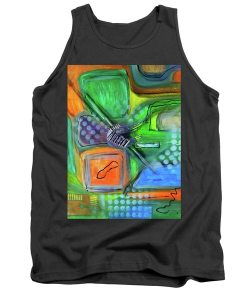 Tank Top featuring the painting Stay In The Game by Everette McMahan jr