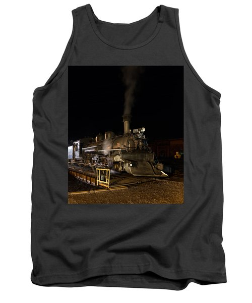 Locomotive And Coal Tender On A Turntable Of The Durango And Silverton Narrow Gauge Railroad Tank Top by Carol M Highsmith