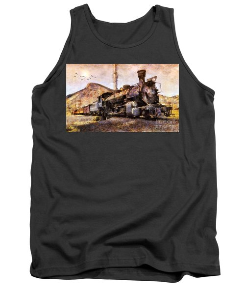 Tank Top featuring the digital art Steam Locomotive by Ian Mitchell