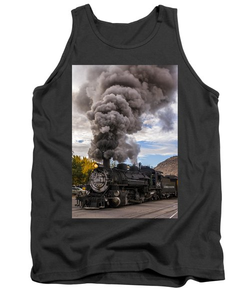 Tank Top featuring the photograph Steam Locomotive by Jerry Cahill
