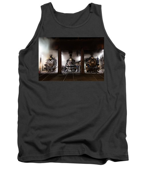 Steam Locomotives In The Roundhouse Of The Durango And Silverton Narrow Gauge Railroad In Durango Tank Top by Carol M Highsmith