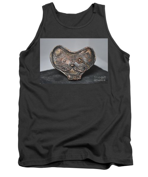 Steampunk Cat  Tank Top by Reina Resto