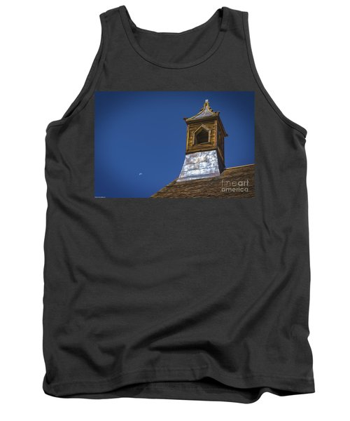Tank Top featuring the photograph Steeple And Moon by Mitch Shindelbower