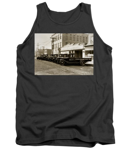 Stegmaier Brothers Inc Beer Trucks At 693 Hazle Ave Wilkes Barre Pa 1930s Tank Top