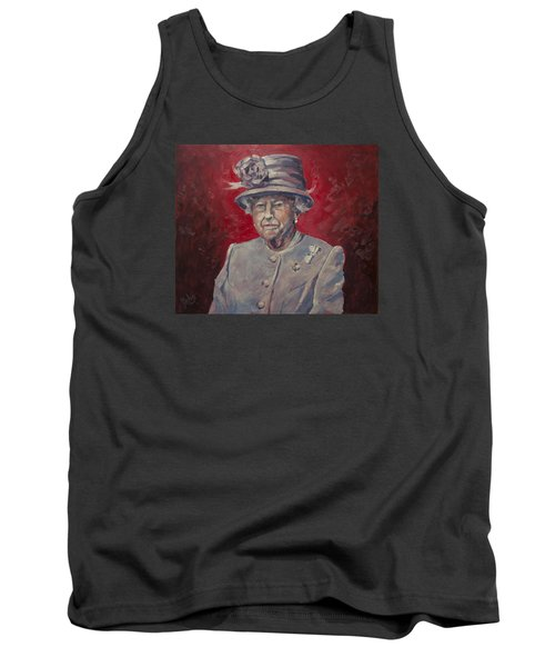 Tank Top featuring the painting Stiff Your Upperlip And Carry On by Nop Briex