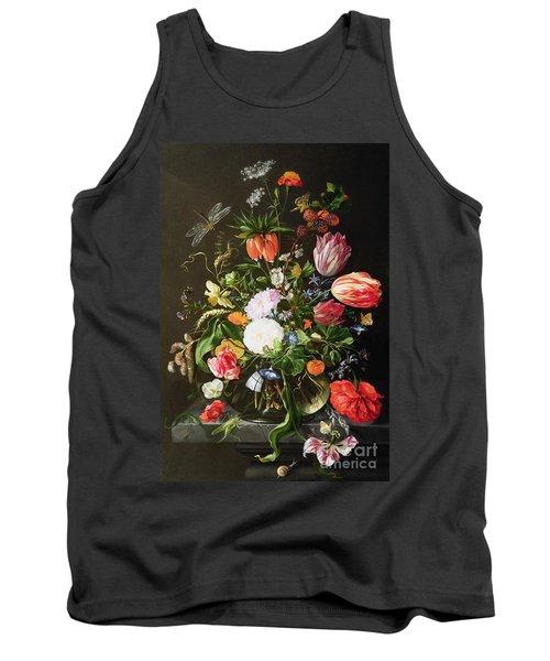Still Life Of Flowers Tank Top by Jan Davidsz de Heem