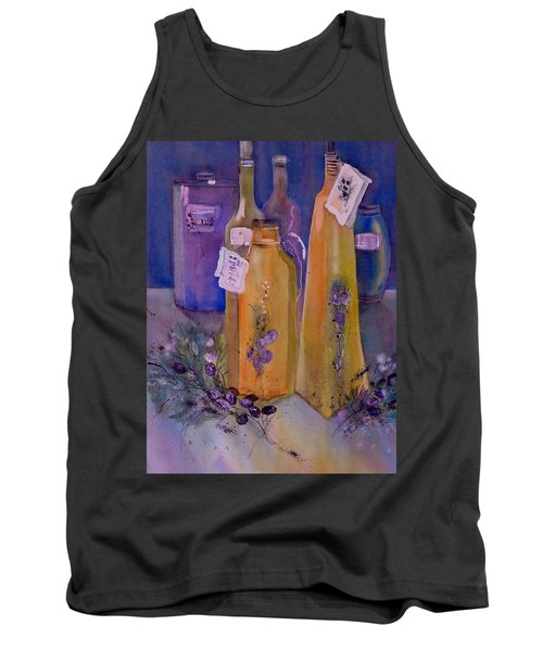Still Life Olive Oil And Olive Twigs Tank Top