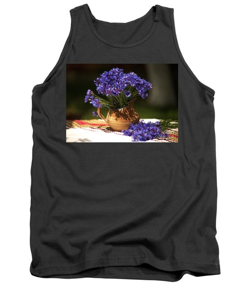 Still Life With Blue Flowers Tank Top