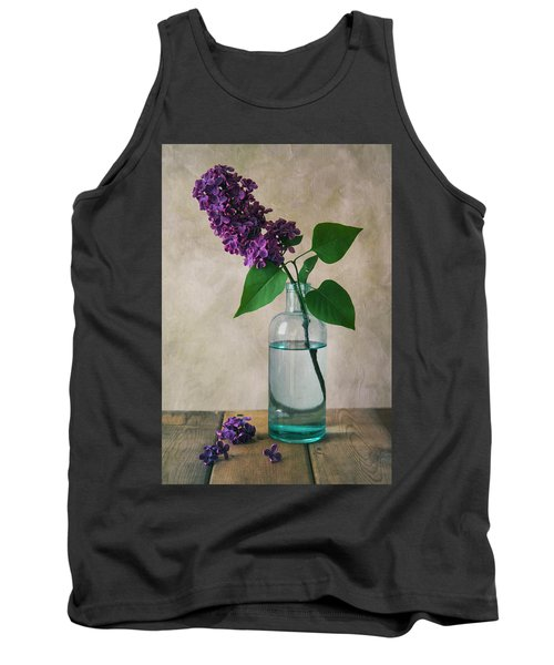 Tank Top featuring the photograph Still Life With Fresh Lilac by Jaroslaw Blaminsky
