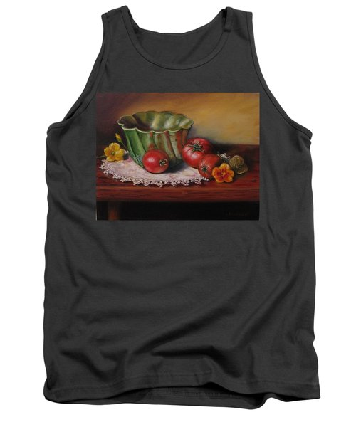 Still Life With Green Bowl Tank Top