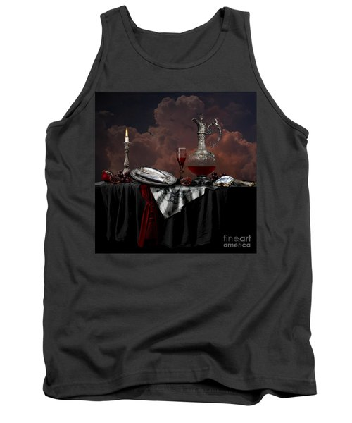 Tank Top featuring the digital art Still Life With Red Wine by Alexa Szlavics