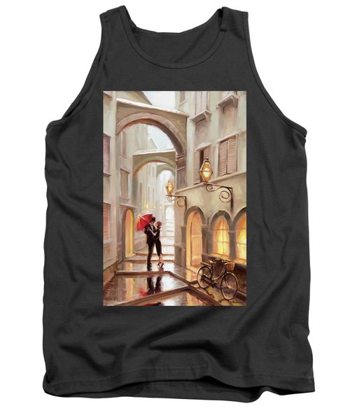 Tank Top featuring the painting Stolen Kiss by Steve Henderson