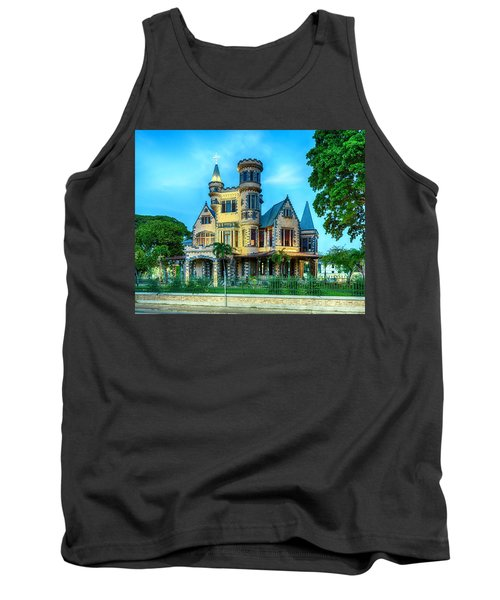 Tank Top featuring the photograph Stollmeyer Castle Trinidad by Rachel Lee Young