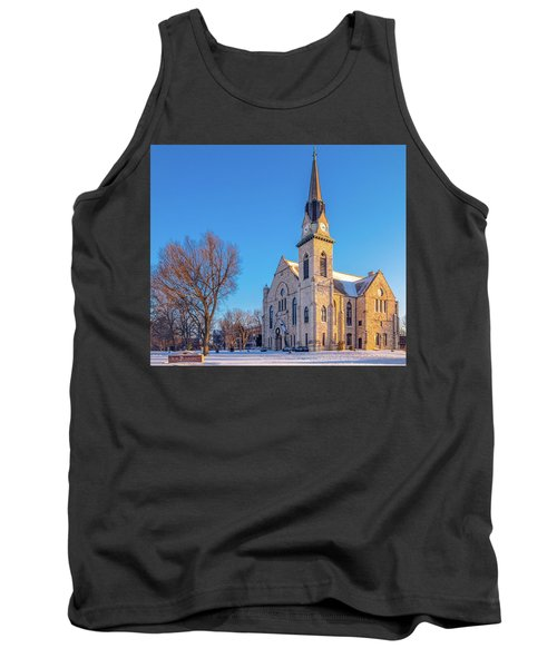 Stone Chapel In Winter Tank Top
