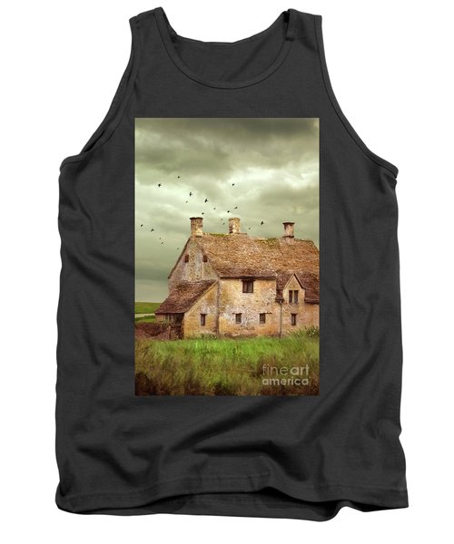 Stone Cottage And Stormy Sky Tank Top by Jill Battaglia
